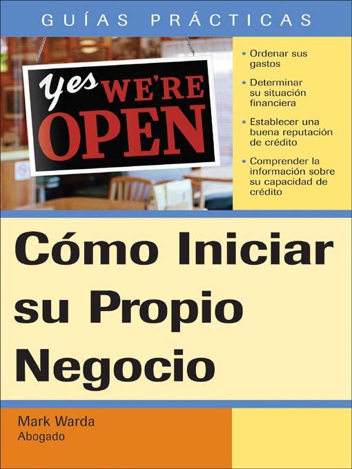 Title details for Cómo Iniciar su propio Negocio by Mark Warda - Available