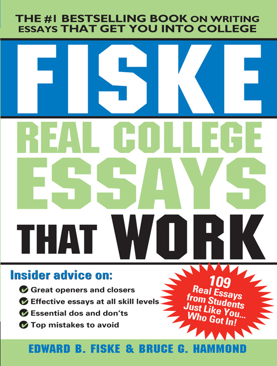 best book for writing college essays The best way to tell your story is to write a personal, thoughtful essay about something that has meaning for you be honest and genuine, and your unique qualities will shine through admissions officers have to read an unbelievable number of college essays, most of which are forgettable.