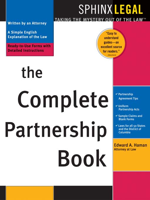 Title details for Complete Partnership Book by Edward A. Haman - Available