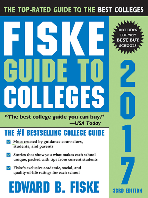 Cover of Fiske Guide to Colleges 2017