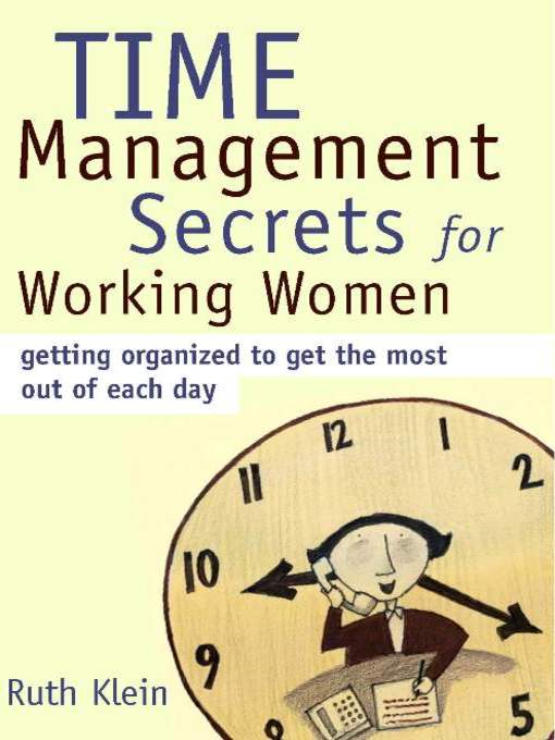 Title details for Time Management Secrets for Working Women by Ruth Klein - Wait list