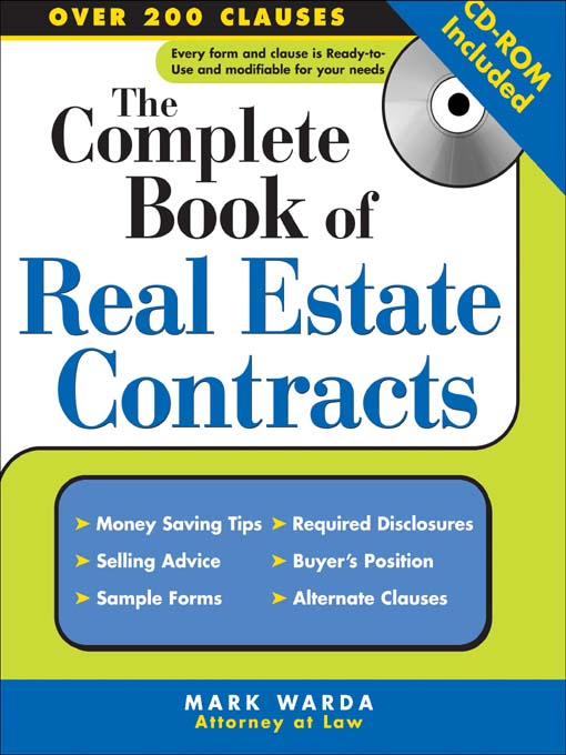 Cover of The Complete Book of Real Estate Contracts