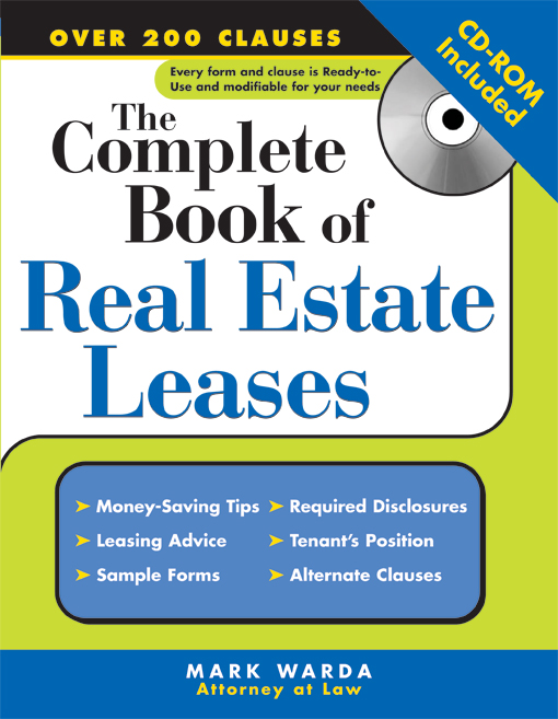 Title details for Complete Book of Real Estate Leases by Mark  Warda Attorney at Law - Available