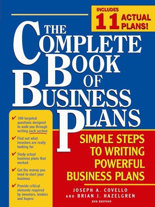 Title details for The Complete Book of Business Plans by Joseph A Covello - Available