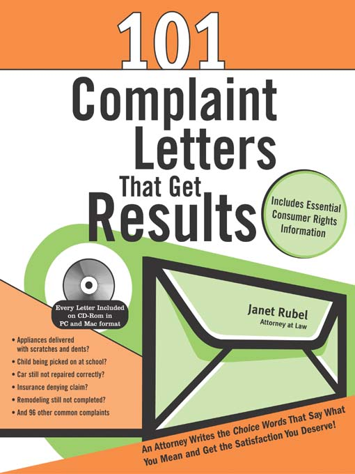Title details for 101 Complaint Letters That Get Results by Janet Rubel - Available