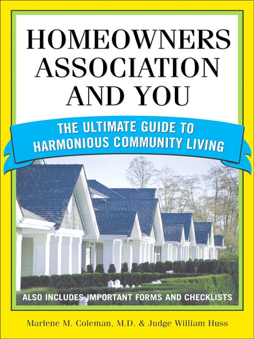 Title details for Homeowners Association and You by Marlene Coleman - Available