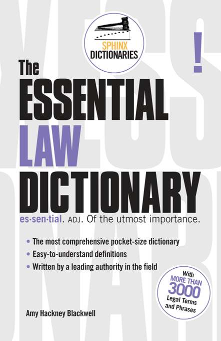 Cover of The Essential Law Dictionary