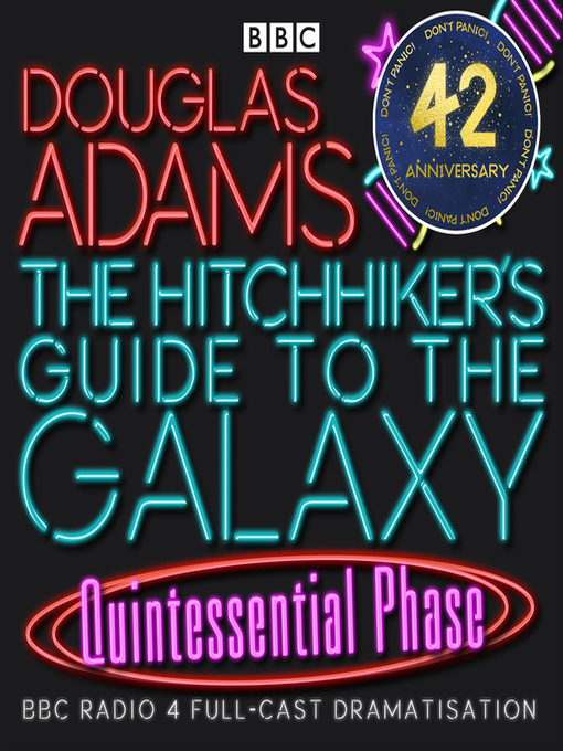 Cover image for Hitchhiker's Guide to the Galaxy: The Quintessential Phase