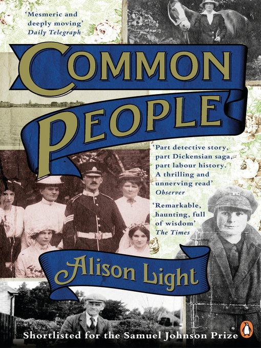Title details for Common People by Alison Light - Available