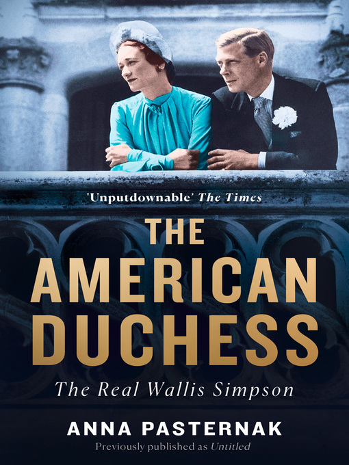 Title details for The American Duchess by Anna Pasternak - Available