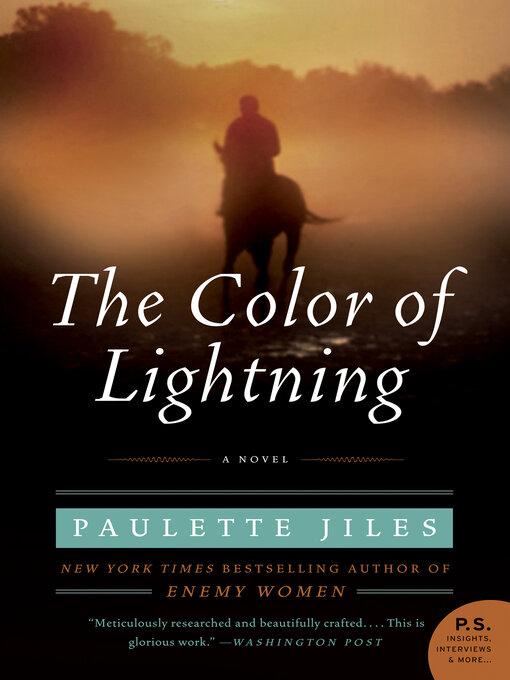 Title details for The Color of Lightning by Paulette Jiles - Wait list