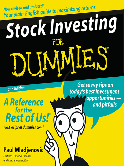 Title details for Stock Investing for Dummies® by Paul Mladjenovic - Available