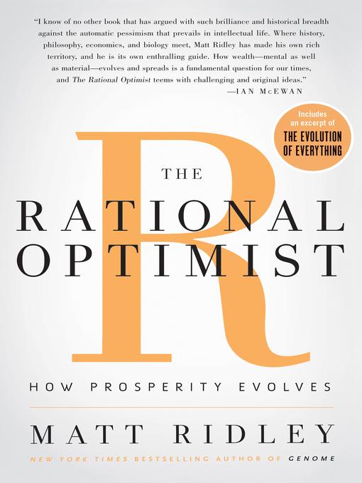 The Rational Optimist How Prosperity Evolves
