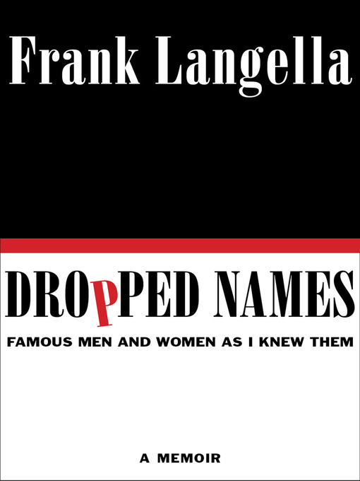 Title details for Dropped Names by Frank Langella - Available