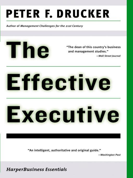 The Effective Executive - Montana Department of