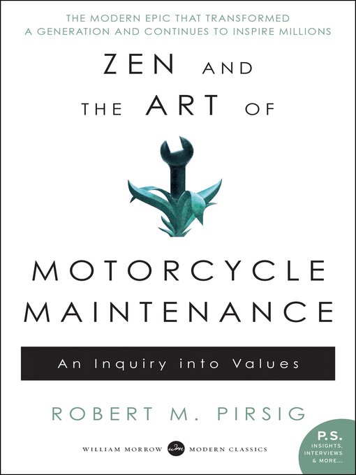 Title details for Zen and the Art of Motorcycle Maintenance by Robert M. Pirsig - Wait list