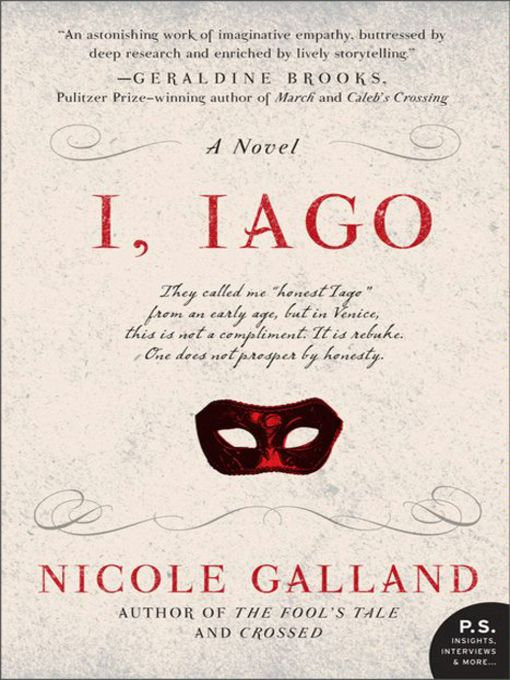 Title details for I, Iago by Nicole Galland - Wait list