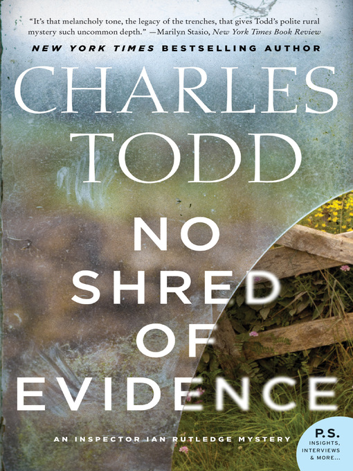 Title details for No Shred of Evidence by Charles Todd - Available