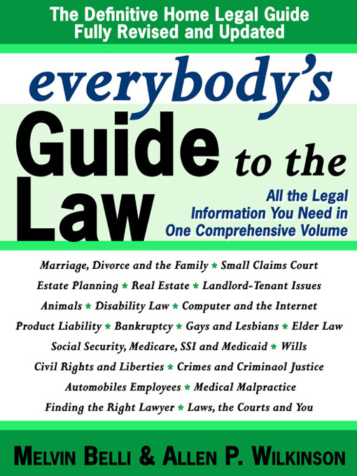Cover of Everybody's Guide to the Law