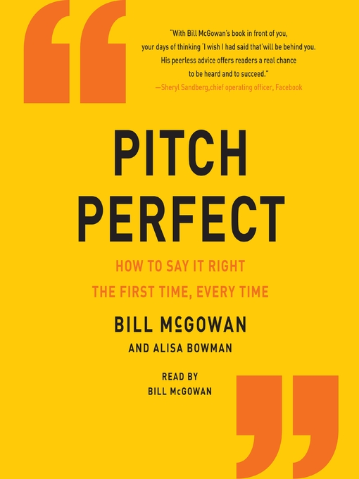 Title details for Pitch Perfect by Bill McGowan - Available