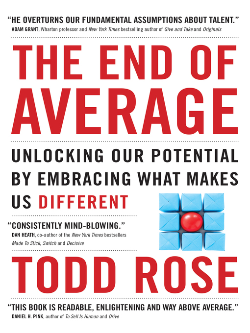 Title details for The End of Average by Todd Rose - Wait list