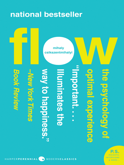 Title details for Flow by Mihaly Csikszentmihalyi - Wait list