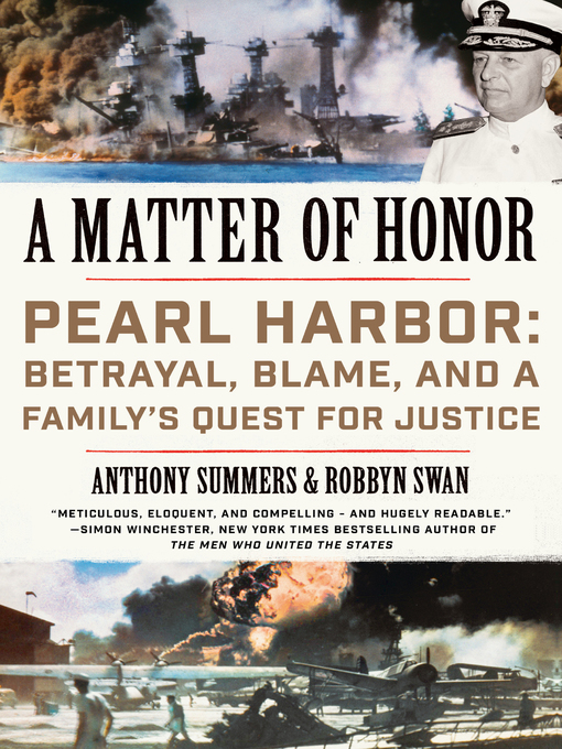 Title details for A Matter of Honor by Anthony Summers - Wait list