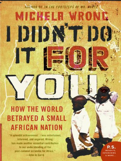 Cover of I Didn't Do It for You