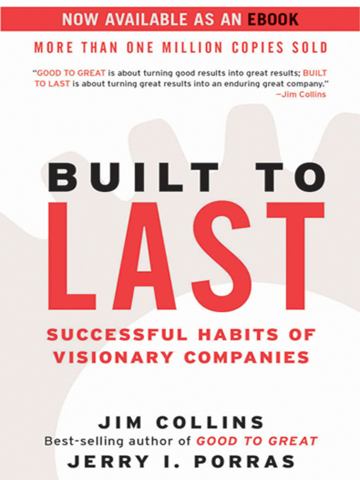 Title details for Built to Last by Jim Collins - Wait list