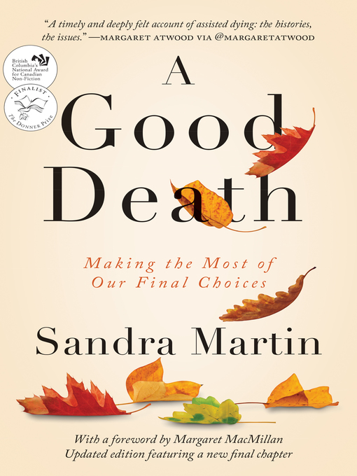 Title details for A Good Death by Sandra Martin - Available