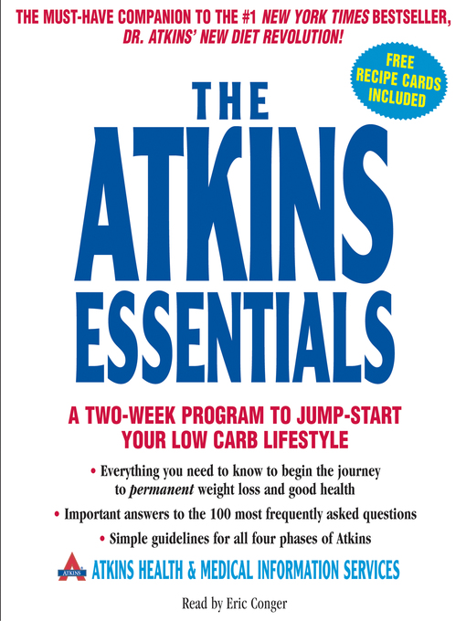 Title details for The Atkins Essentials by Atkins Health & Medical Information Services - Available