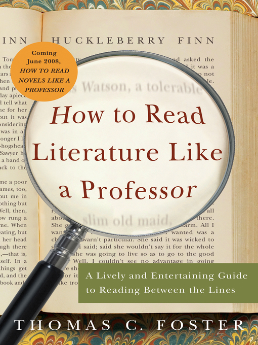 Cover of How to Read Literature Like a Professor
