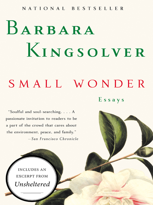 Title details for Small Wonder by Barbara Kingsolver - Available