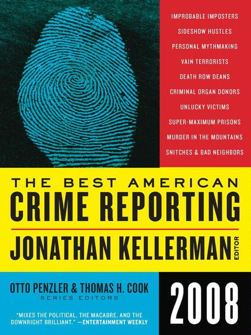 Title details for The Best American Crime Reporting 2008 by Jonathan Kellerman - Wait list