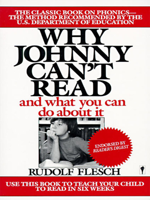 Title details for Why Johnny Can't Read? by Rudolf Flesch - Available
