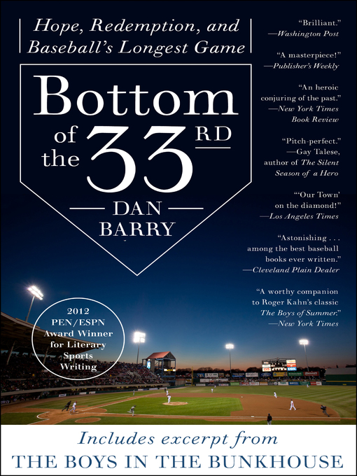 Title details for Bottom of the 33rd by Dan Barry - Available