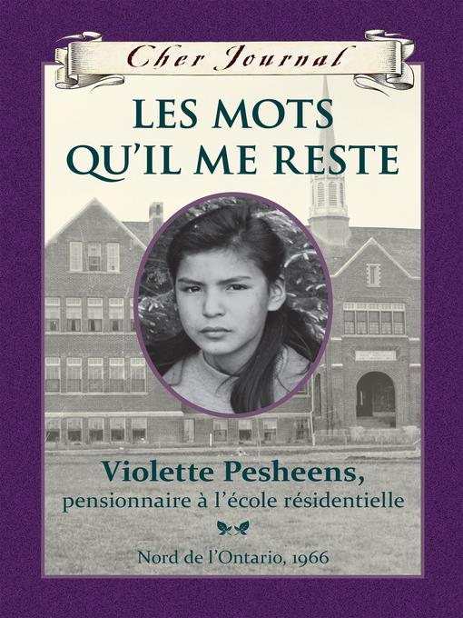 Title details for Les mots qu'il me reste by Ruby Slipperjack - Available
