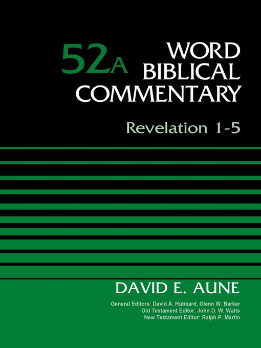 Title details for Revelation 1-5, Volume 52A by Dr. David Aune - Available