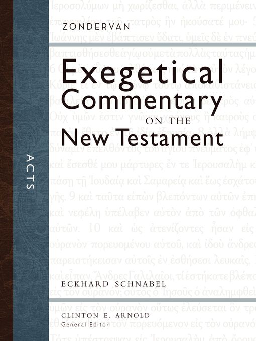 Title details for Acts by Eckhard J. Schnabel - Available