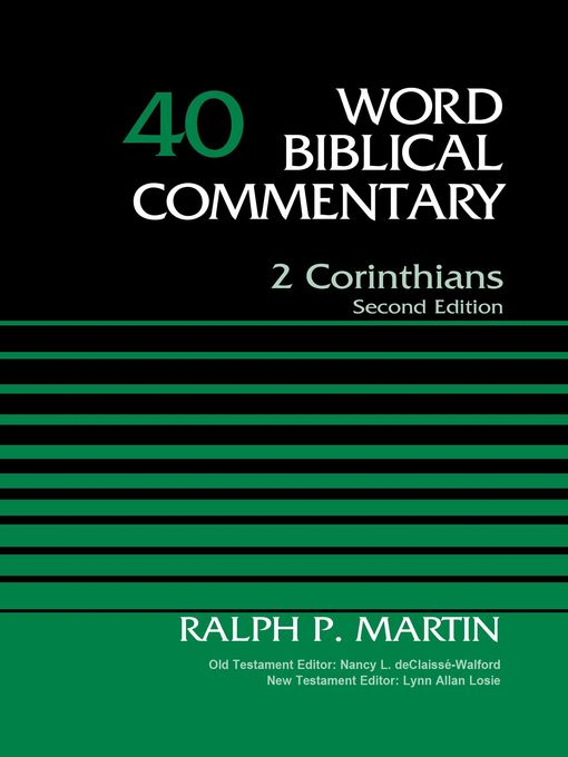 Title details for 2 Corinthians, Volume 40 by Ralph P. Martin - Available