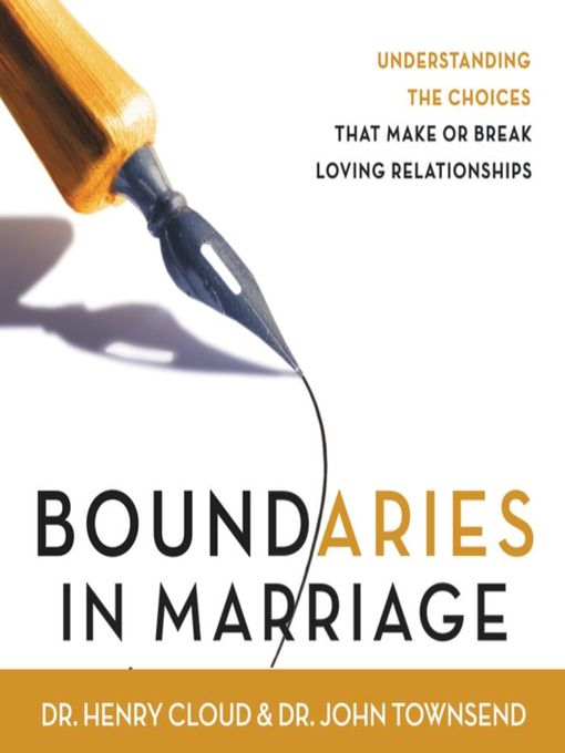 Title details for Boundaries in Marriage by Henry Cloud - Wait list