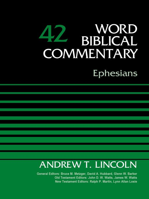 Title details for Ephesians, Volume 42 by Dr. Andrew T. Lincoln - Available