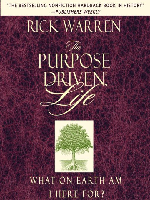 day 9 and 10 purpose driven Purpose driven life- habit #7 from 9 habits of happy people.