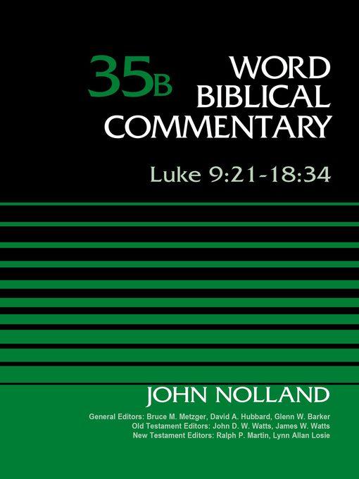 Title details for Luke 9 by John Nolland - Wait list
