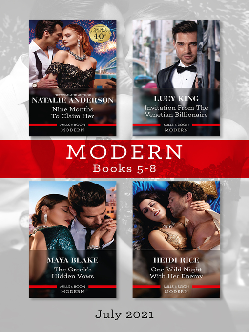 Title details for Modern Box Set 5-8, July 2021 by Lucy King - Wait list