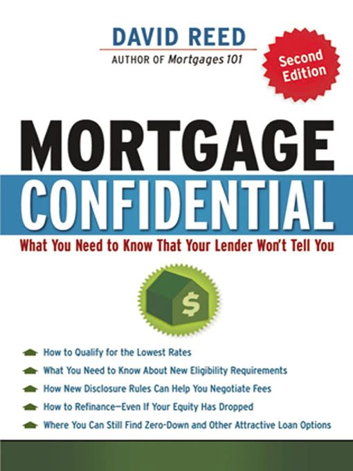 Title details for Mortgage Confidential by David Reed - Available