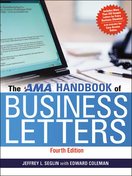 Title details for AMA Handbook of Business Letters by Jeffrey Seglin - Wait list