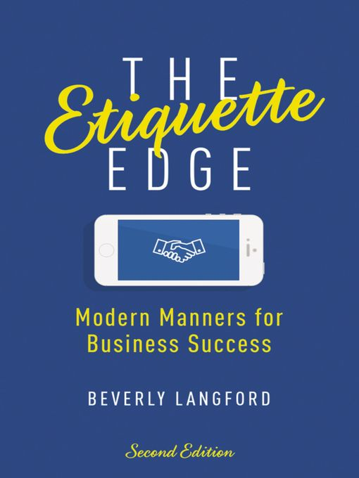 Title details for The Etiquette Edge by Beverly Langford - Available