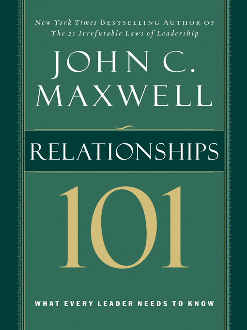 Cover of Relationships 101