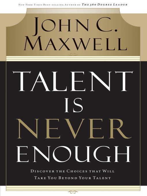 Cover of Talent Is Never Enough